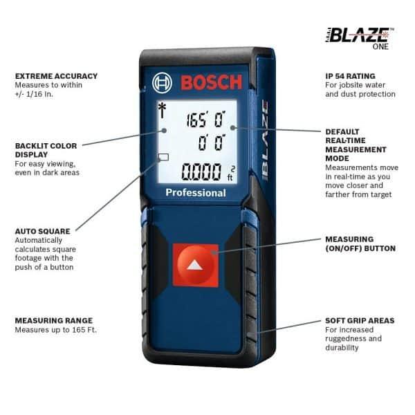 Bosch GLM 165-10 BLAZE One 165 Ft. Laser Measure