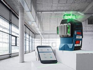 Bosch GLL3-330CG 360⁰ Connected Green-Beam Three-Plane Leveling and Alignment-Line Laser