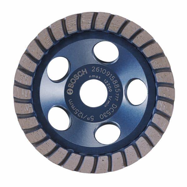 5 In. Turbo Row Diamond Cup Wheel for Finishing