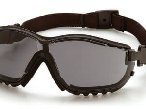 Pyramex V2G Safety Glasses Anti-Fog Lens, Black Frame, Gray