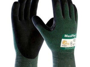 PIP 34-8743 MaxiFlex Cut by ATG Black Micro-Foam Nitrile Dipped Palm And Finger Coated Work Glove With Continuous Knitwrist (Dozen)