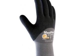 MaxiFlex Ultimate 34-875 Seamless Knit Nylon/Lycra Glove with Nitrile Coated Micro-Foam Grip on Palm, Fingers and Knuckles, Pack of 12