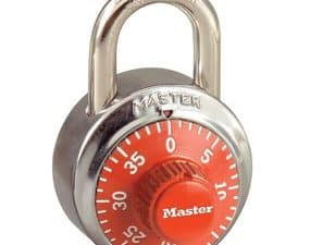 General Security Combination Padlock with Orange Colored Dial 1-7/8in (48mm)