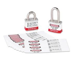 Padlock Identification Labels with Overlaminate
