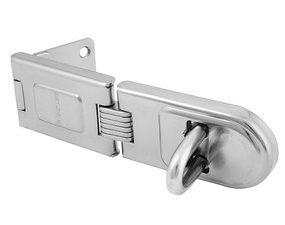 6-1/4in (16cm) Long Zinc Plated Hardened Steel Single Hinge Hasp