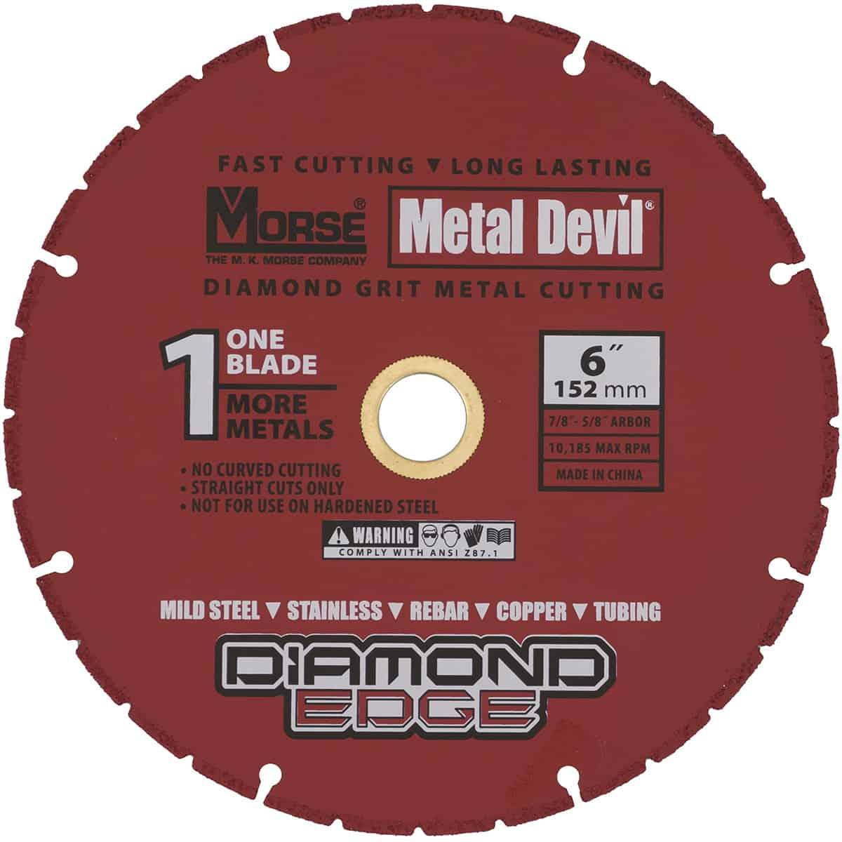 Morse 6 1/4X5/8 METAL DEVIL NXT CIRCULAR SAW BLADE