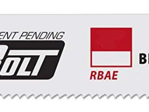 Morse 12   8/11TPI   ADVANCED EDGE BOLT   BI-METAL   RECIPROCATING  SAW BLADE   (5/PKG)