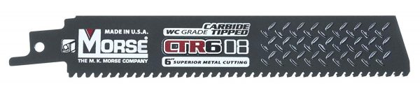 """Morse 6""""   8T   CARBIDE TIPPED   RECIPROCATING   SAW BLADES"""