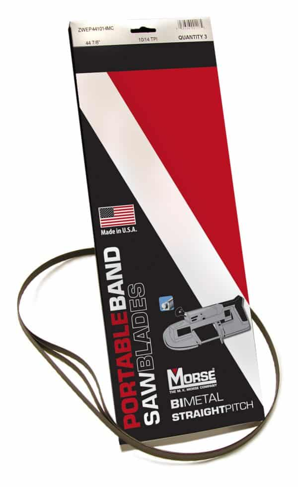 Morse Blade Type Carbon Flex Back, Length 12 Ft. 6 In, Thickness (in.) 0.025, Width (in.) 1/4, Teeth Per Inch 6, Tooth Type Hook